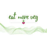Eat more veg vector eco banner about organic food Stock Photo