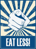 Eat less motivational poster vector background Stock Photo