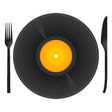 Eat my music stock illustration