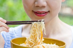 Eat noodle Royalty Free Stock Image