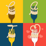 EAT noodles Stock Images