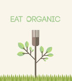 Eat organic  with text Royalty Free Stock Photography