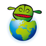 Eat the planet (vector) Stock Photo