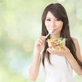 Eat salad Royalty Free Stock Photography