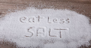 Eat less salt. Medical concept Royalty Free Stock Photo