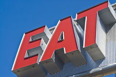 Eat Sign Stock Image