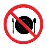 Eat sign food icon backgrounde on white Royalty Free Stock Photography