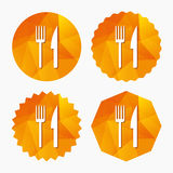 Eat sign icon. Cutlery symbol. Fork and knife. Royalty Free Stock Image