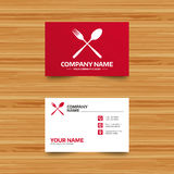 Eat sign icon. Cutlery symbol. Fork and spoon. Royalty Free Stock Images