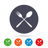 Eat sign icon. Cutlery symbol. Fork and spoon. Stock Photography