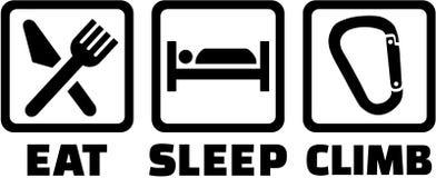 Eat sleep climb icons. Eat sleep and climbing icons Stock Photo