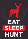 Eat. Sleep. Hunt. - creative quote.  Vector hand Stock Photos