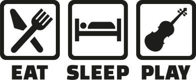 Eat sleep play Violin. Vector Stock Photos