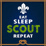 Eat Sleep Scout Repeat. Modern Idea for Scouts with Creative out look Royalty Free Stock Photo