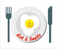 Eat & Smile Stock Photo