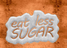 Eat less sugar Stock Image