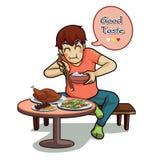 Eat tasty vector Royalty Free Stock Photography