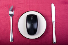Eat technology Royalty Free Stock Images