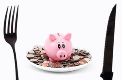 Eat Up Your Cash Stock Photography