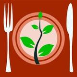 Eat vegan plate Stock Images