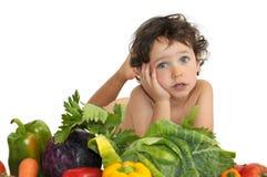 Eat vegetables Stock Image