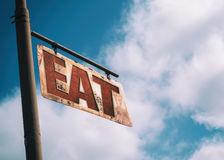Eat Vintage Rusted Sign Stock Images