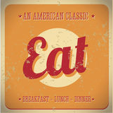 Eat Vintage sign. All American classic Royalty Free Stock Photography