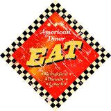 Eat. Vintage Eat sign, Diner sign Royalty Free Stock Image