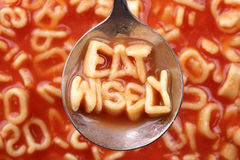 Eat wisely Stock Image