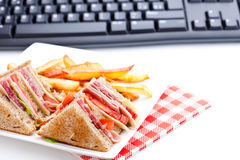 Eat at work Royalty Free Stock Photography