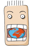 Eat the  world Royalty Free Stock Photography