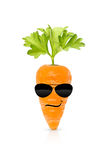 Eat your organic vegetables and be cool Royalty Free Stock Photography