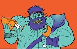 Eat zombie Royalty Free Stock Image