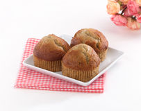 Eatable banana cup cake Stock Images