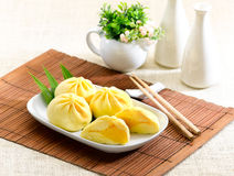 dim sum dumpling pumpkin flavour isolated   Royalty Free Stock Photo