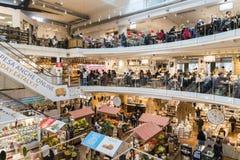 Eataly цепной супермаркет продавая все продукты связанные к итальянской гастрономии Этот супермаркет расположен в Porta Garibaldi Стоковое фото RF