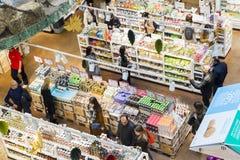 Eataly цепной супермаркет продавая все продукты связанные к итальянской гастрономии Этот супермаркет расположен в Porta Garibaldi Стоковое Изображение RF