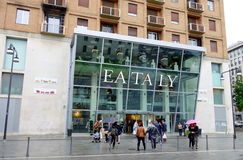 Eataly Store. The exterior of one of the popular supermarkets Eataly in Milan, Italy Royalty Free Stock Images