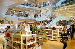 Eataly Store. The inside of one of the famous supermarkets Eataly in Milan, Italy