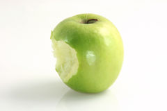 Eaten apple Royalty Free Stock Image