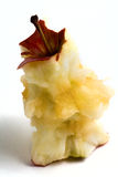 Eaten apple core isolated on white Stock Photos
