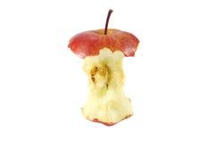 Eaten apple isolated on white Royalty Free Stock Image