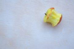 An eaten apple Stock Photo