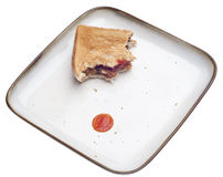 Almost Eaten Black Bean Vegetarian Burger Sandwich. On Toast with Ketchup Stock Images