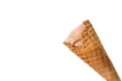 Eaten chocolate icecream. Stock Photography