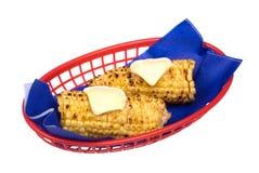 Eaten corn on the cob Stock Images