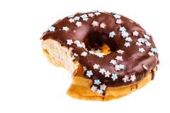 Eaten donut Royalty Free Stock Photos