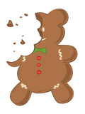 Eaten gingerbread. Stock Image