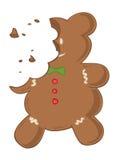 Eaten gingerbread. stock image