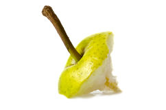 Eaten pear Stock Photo